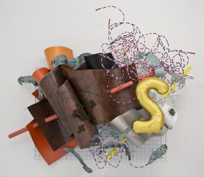 sculpture, mixed media, balloon, abstraction