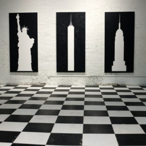 JIM JOE, ink on canvas, black and white, new york, cultural commentary
