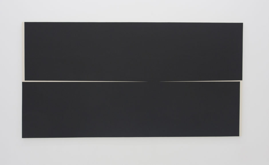 """Untitled iv"", 2016, gesso on canvas, 72 x 122 inches"