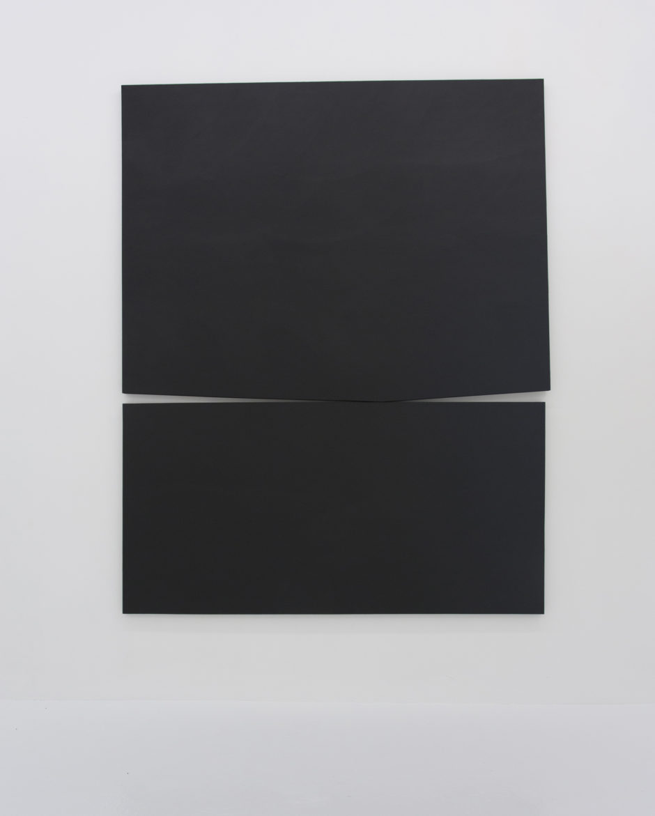 """Untitled v"", 2016, gesso on canvas, 120 x 96 inches"