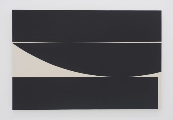 Johnny Abrahams, abstract, black and white, abstraction, geometric, gesso on canvas