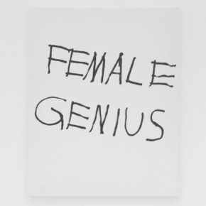 JIM JOE, ink on canvas, black and white, female genius, cultural commentary, graffiti