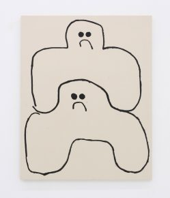 """""""Puzzle Brothers"""", 2016, oil stick on canvas,  60 x 48 inches, 152.4 x 121.9 cm"""