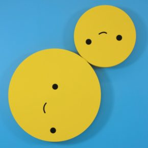 FriendsWithYou, sculpture, bright colors, humor, smiley faces