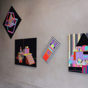 neon, bright colors, geometric, abstraction,