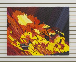 painting, oil on canvas, fire, bright colors, impasto