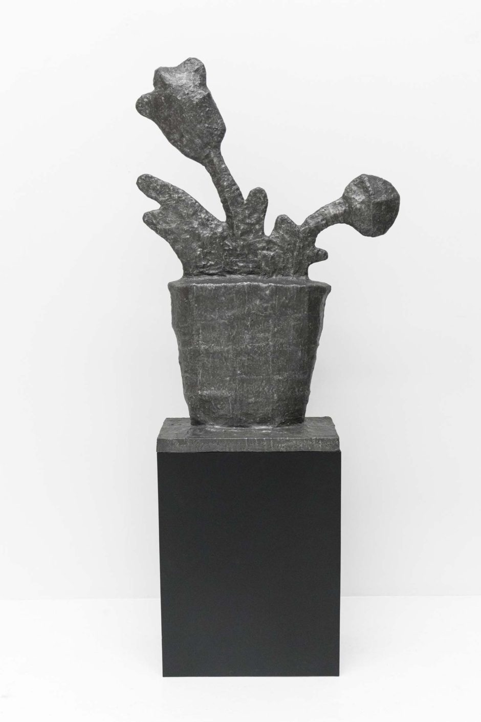 "Donald Baechler, ""Untitled (Flower)"", 2015, cast bronze, 42 x 20 x 10 inches, 106.5 x 51 x 25.5 cm"