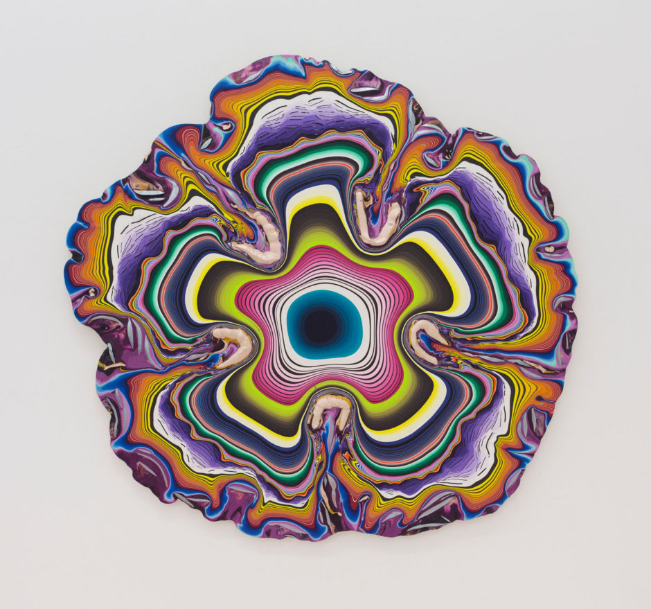 "Holton Rower, ""With You I Step Lightly"", 2016, hand mixed pigment on wood, 43 x 45 inches, 110 x 115 cm"