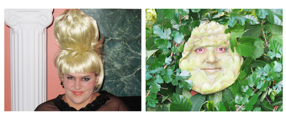 "Jaimie Warren, ""Self-Portrait as Ivana Trump / Self-Portrait as An Artichoke in Ivana's Hair Totally Looks Like An Artichoke by catlovre2008"", 2012, chromogenic prints, 20 x 30 inches, 51 x 76 cm each"