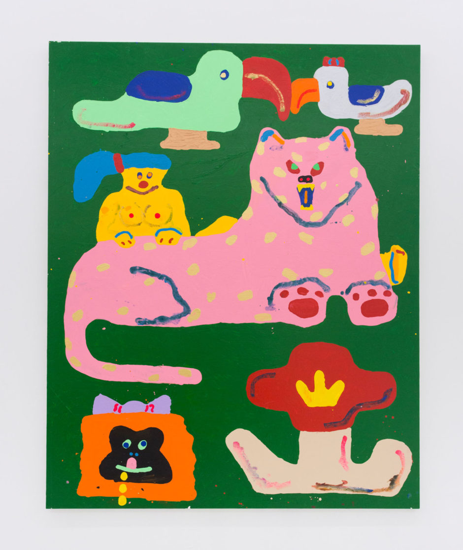 "Misaki Kawai, ""Jungle Romance"", 2015, acrylic on canvas, 100 x 80 inches, 254 x 202 cm"