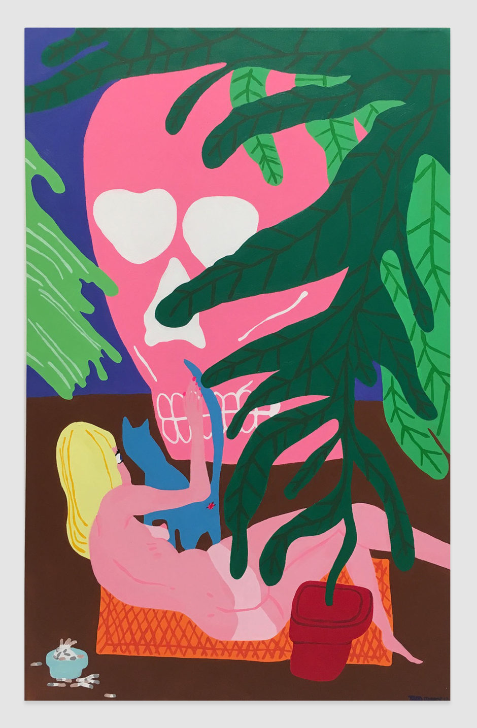 "Todd James, ""Dirty Deeds in the Dundee Jeep"", 2012, acrylic on canvas, 48 x 30 inches, 122 x 76 cm"