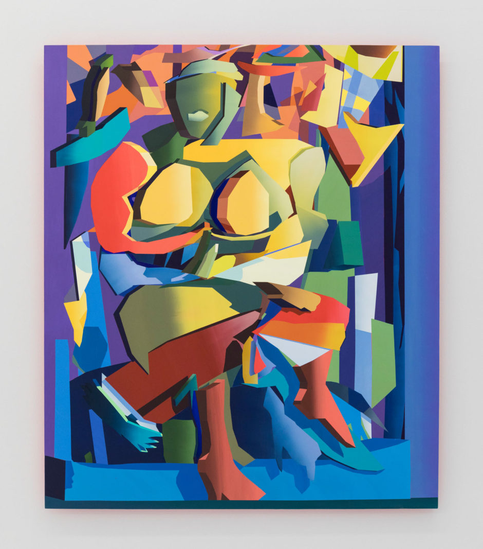 "Jonathan Chapline, ""Woman I"", 2017, acrylic on panel, 57 x 48 inches, 145 x 122 cm"