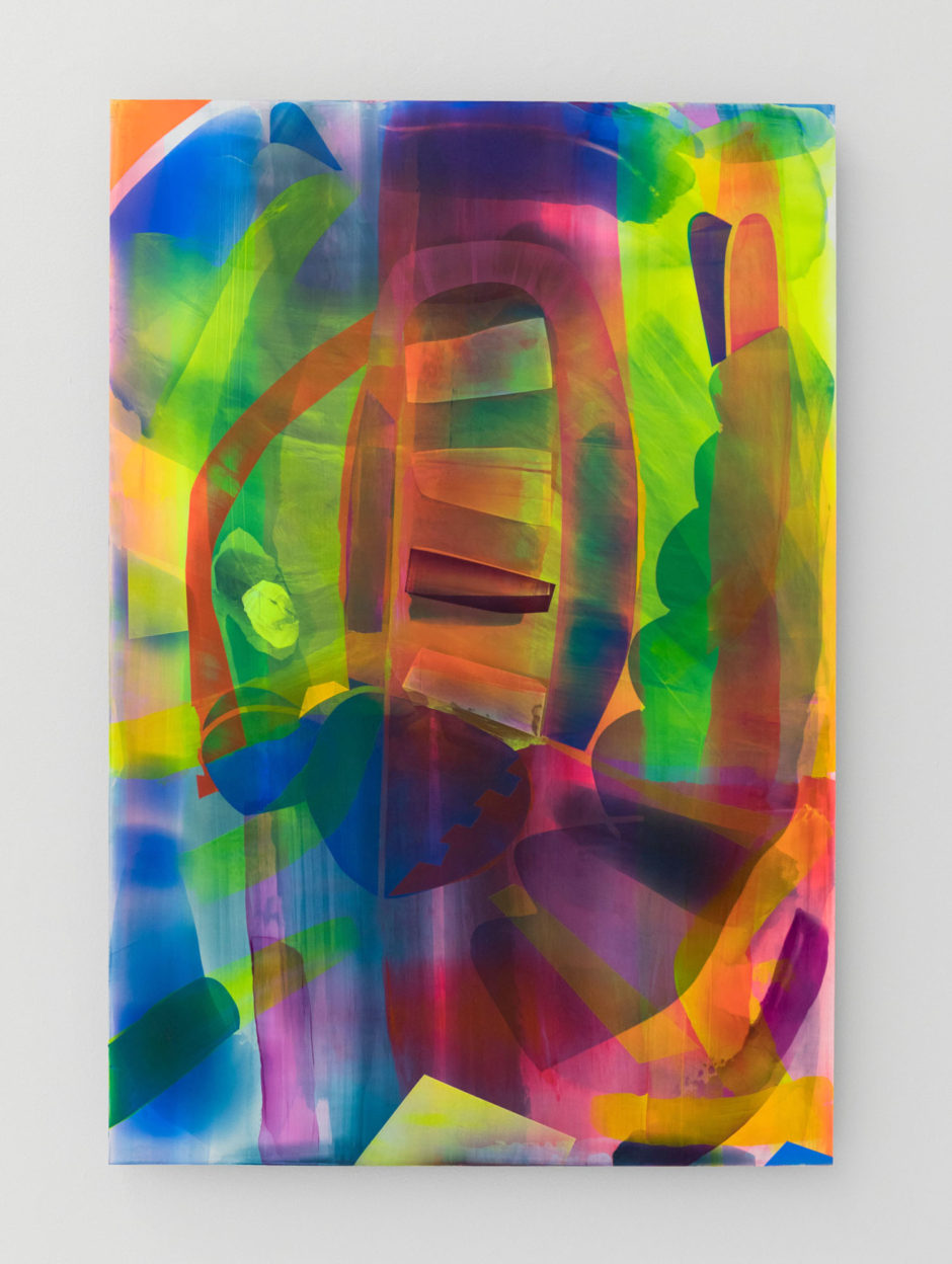 "Kristin Baker, ""Draw Against Light"", 2016, acrylic on PVC, 44 x 30 inches, 112 x 76 cm"