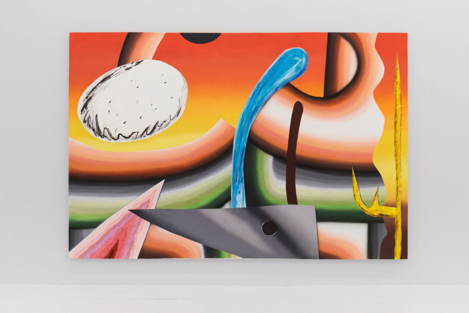 "Lauren Silva, ""Bobber"", 2013, oil and acrylic on canvas, 96 x 144 inches, 244 x 366 cm"
