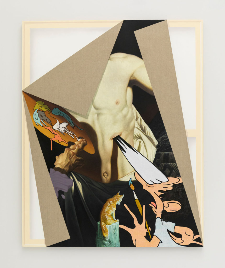 "Matthew Hansel, ""Doubting Thomas"", 2017, oil and flashe paint on linen, 60 x 48 inches, 152.5 x 122 cm"