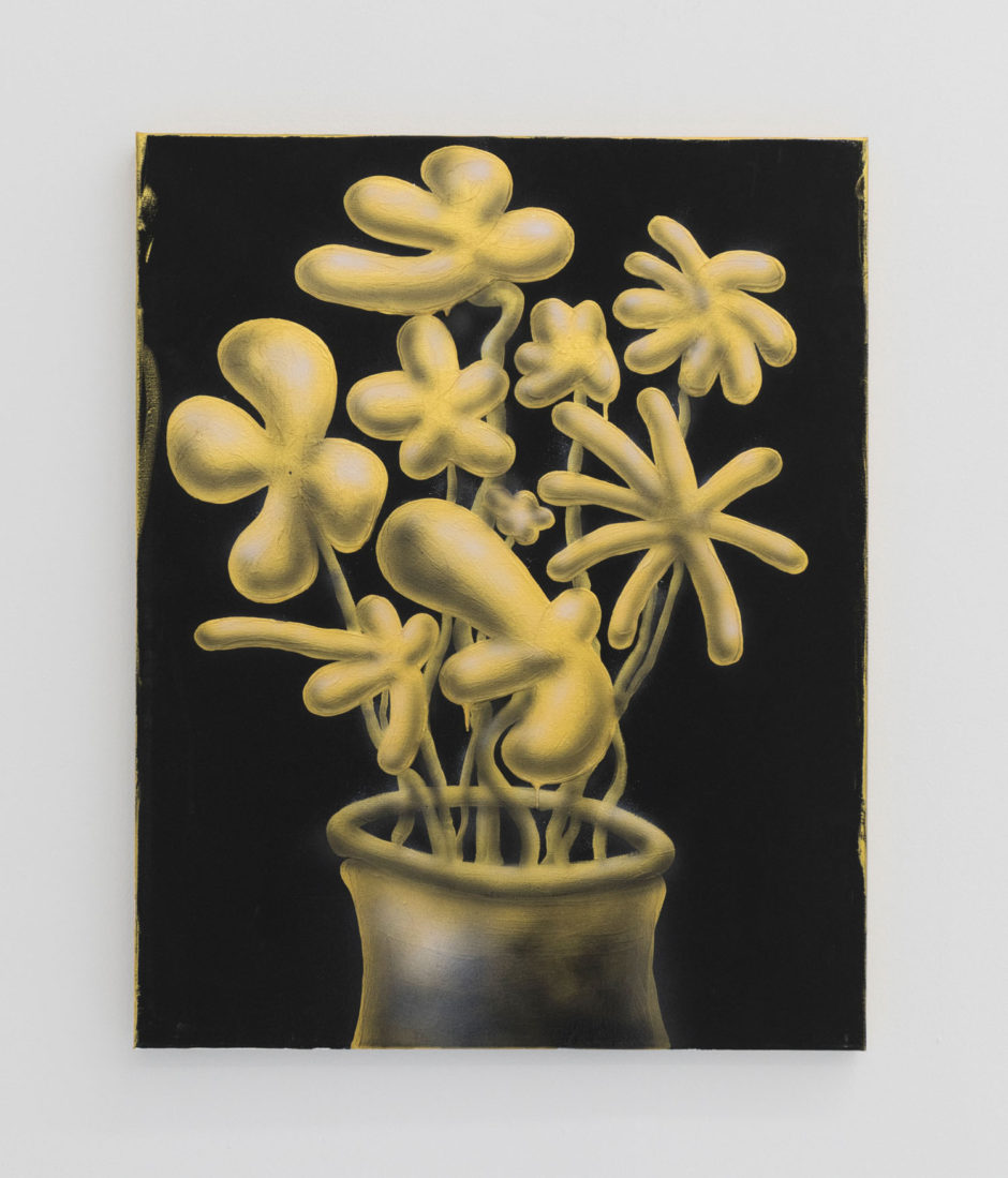 "Mark Wehberg, ""Golden Flowers"", 2017, acrylic on canvas, 30 x 24 inches, 76 x 61 cm"