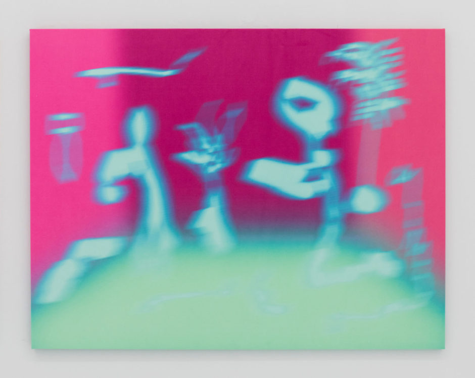 "Ry David Bradley, ""Plato & Chill 2"", 2017, dye transfer on synthetic suede, 3D glasses, 48 x 62 inches, 122 x 157.5 cm"